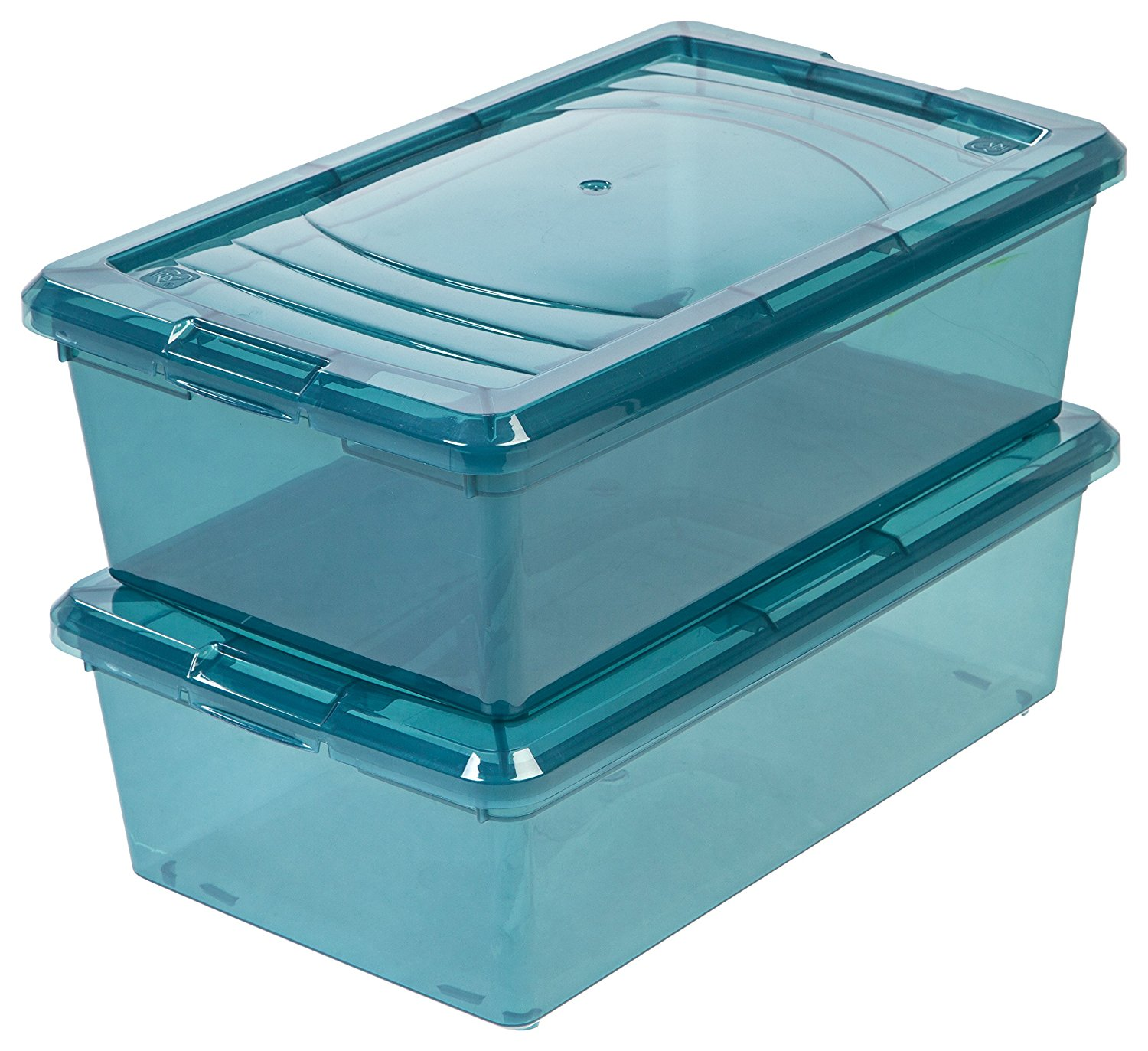 IRIS 34 Quart Deep Sweater Storage Box, 10 Pack, Clear