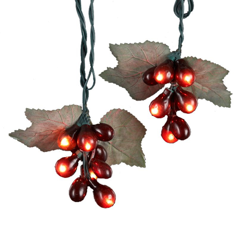 Kurt Adler 10 Cluster 5 ct. Mini Light Set - Burgundy