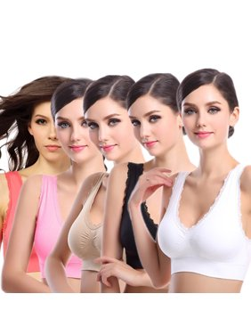 cf9c9a52a Sports Bras for Women Lace Sports Bra Padded High Impact.