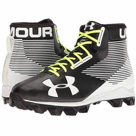 Under Armour Men's Hammer Mid RM Football Shoe, Black/White, 7 M