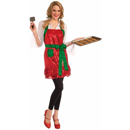 Christmas Sequin Holiday Apron: Red & Green One Size Fits Most - image 1 of 1