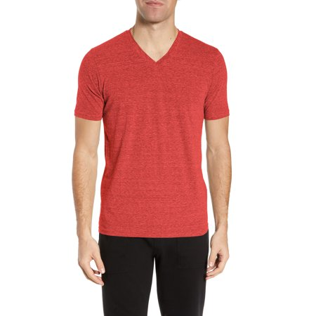 Mens V Neck Tri-blend Short Sleeve Slim Fit Casual Basic Cotton Classic Unisex T (Fits 45 Mm Neck)