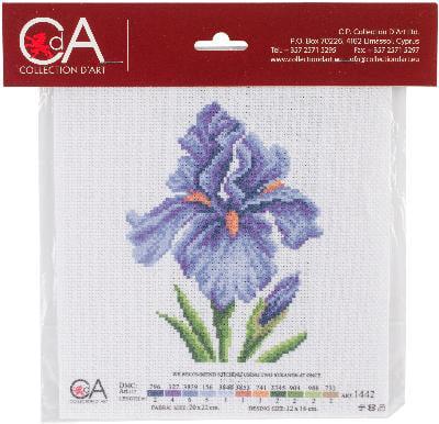 Collection D'Art Stamped Cross Stitch Kit 20X22cm-Irises