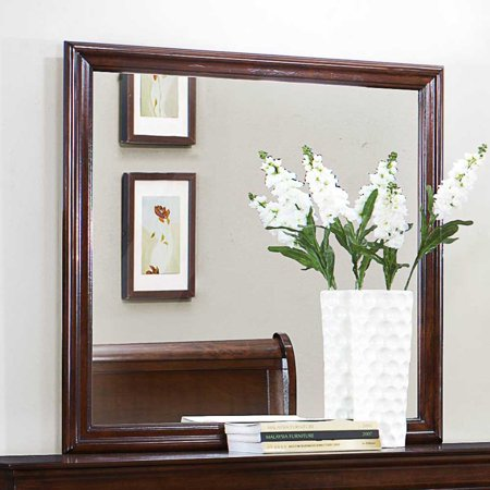 Homelegance Mayville Square Mirror in Brown Cherry ()