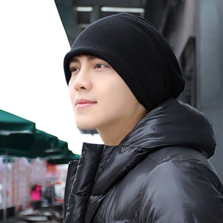 Men Ponytail (HiCoup Casual Solid Color Ponytail Beanie Scarf Men Women Double Layer Cap Slouchy)
