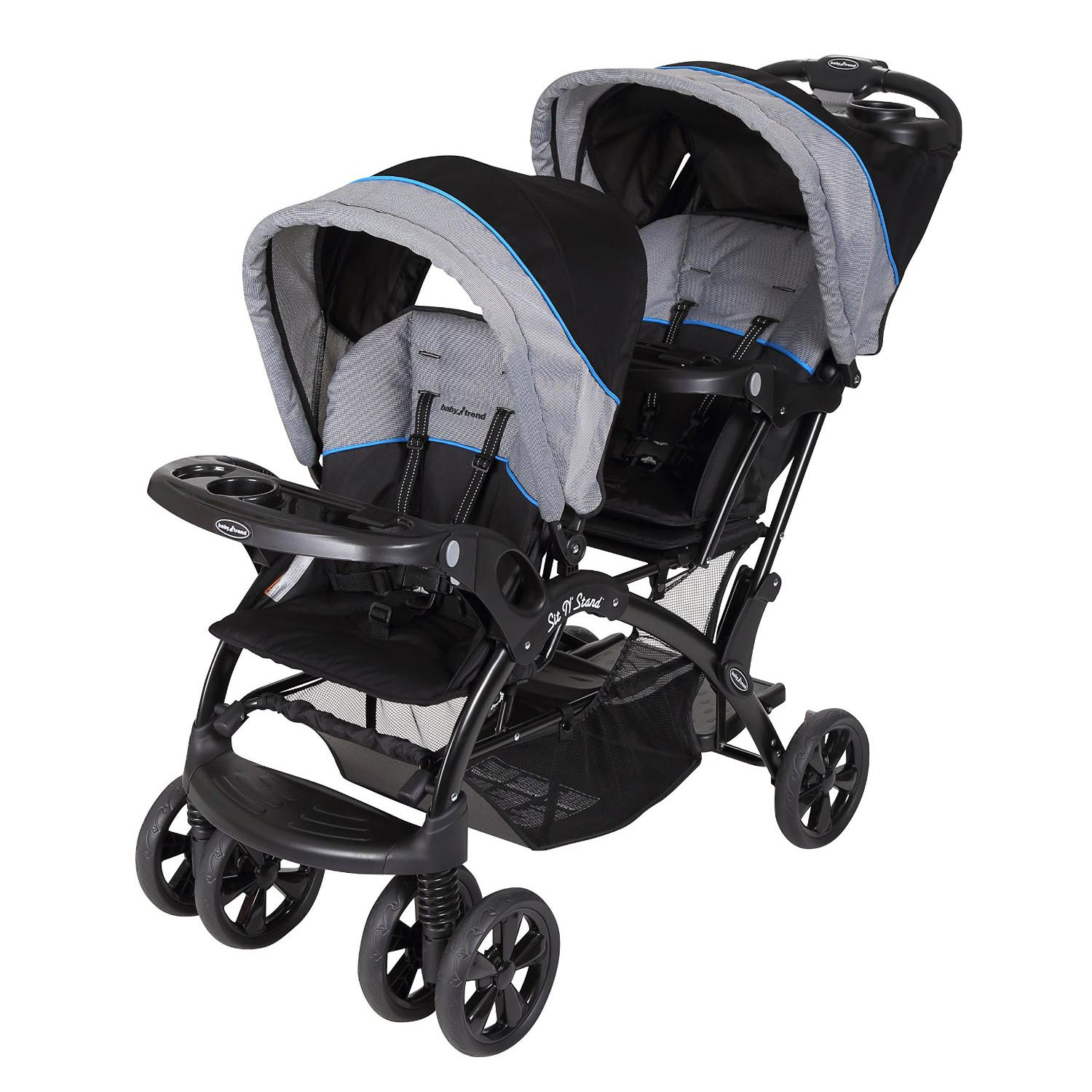 Baby Trend Sit 'N Stand Double Stroller, Millennium Blue by Baby Trend