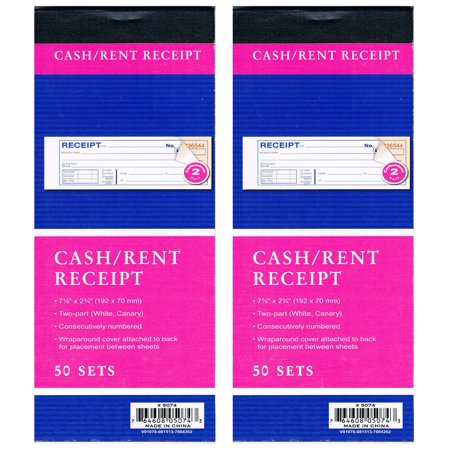 Safety Booklets (2 Cash Rent CARBONLESS Receipt Book 2 Part 50 Set Money Record Booklet Duplicate )