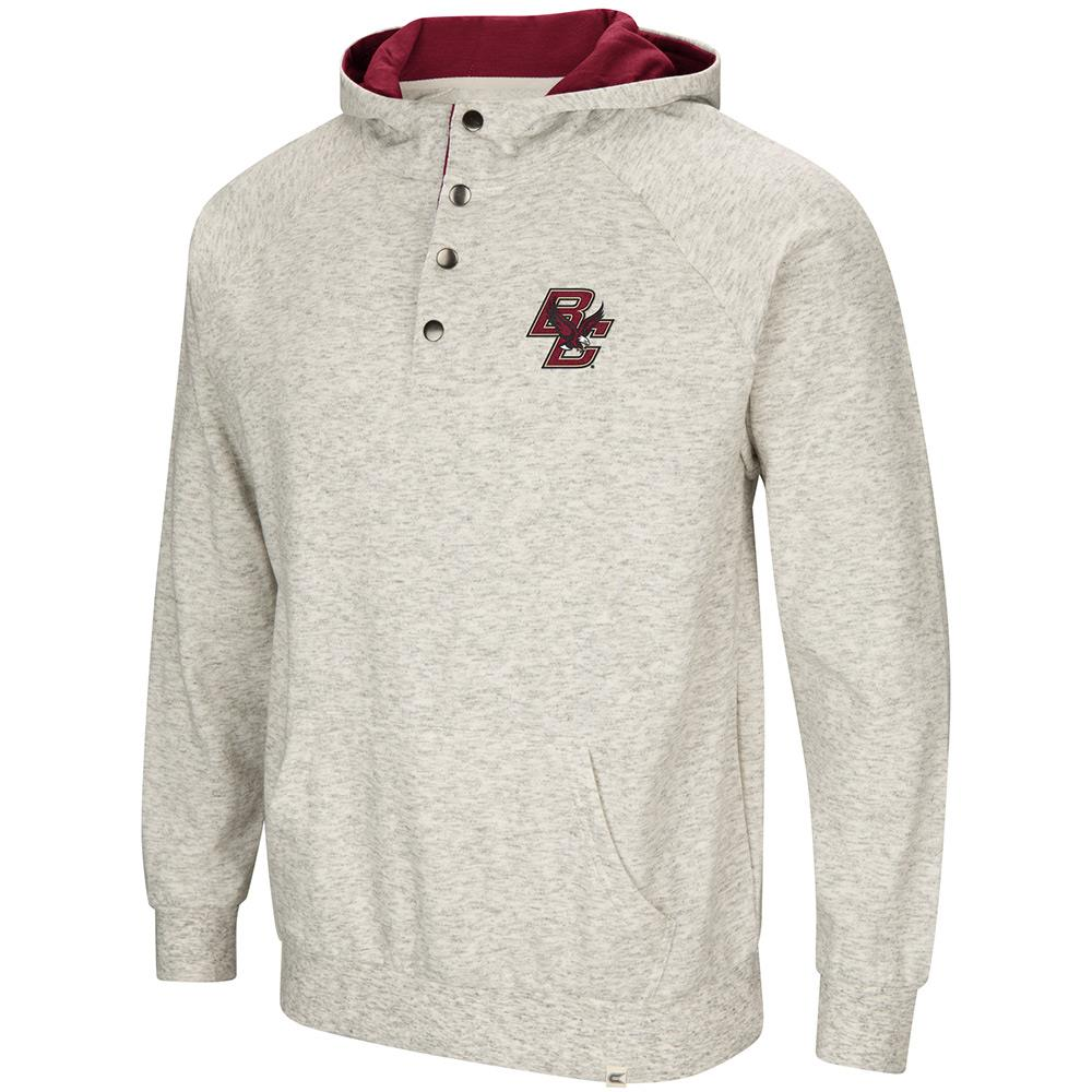Mens Boston College Eagles Henley Fleece Hoodie - S