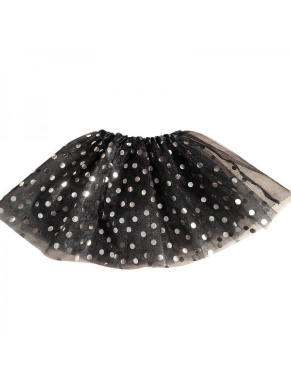 Kids Baby Girls/' Polka Dot Tutu Glitter Ballet Triple Layer Tulle Dance Skirt