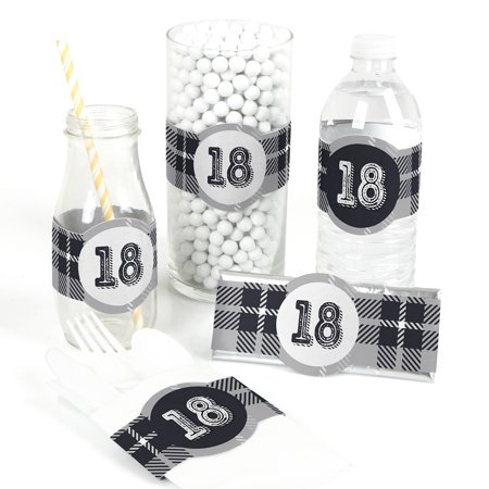 18th Milestone Birthday - Time to Adult - DIY Birthday Party Wrapper Favor - Set of 15 (18th Birthday Supplies)