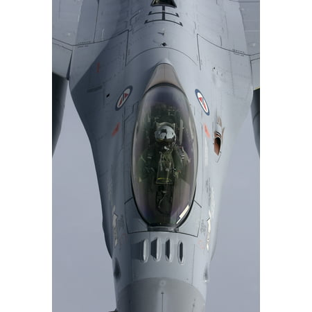 Close Up Of A Lockheed Martin F 16 Fighting Falcon Of The Norwegian Air Force Poster Print