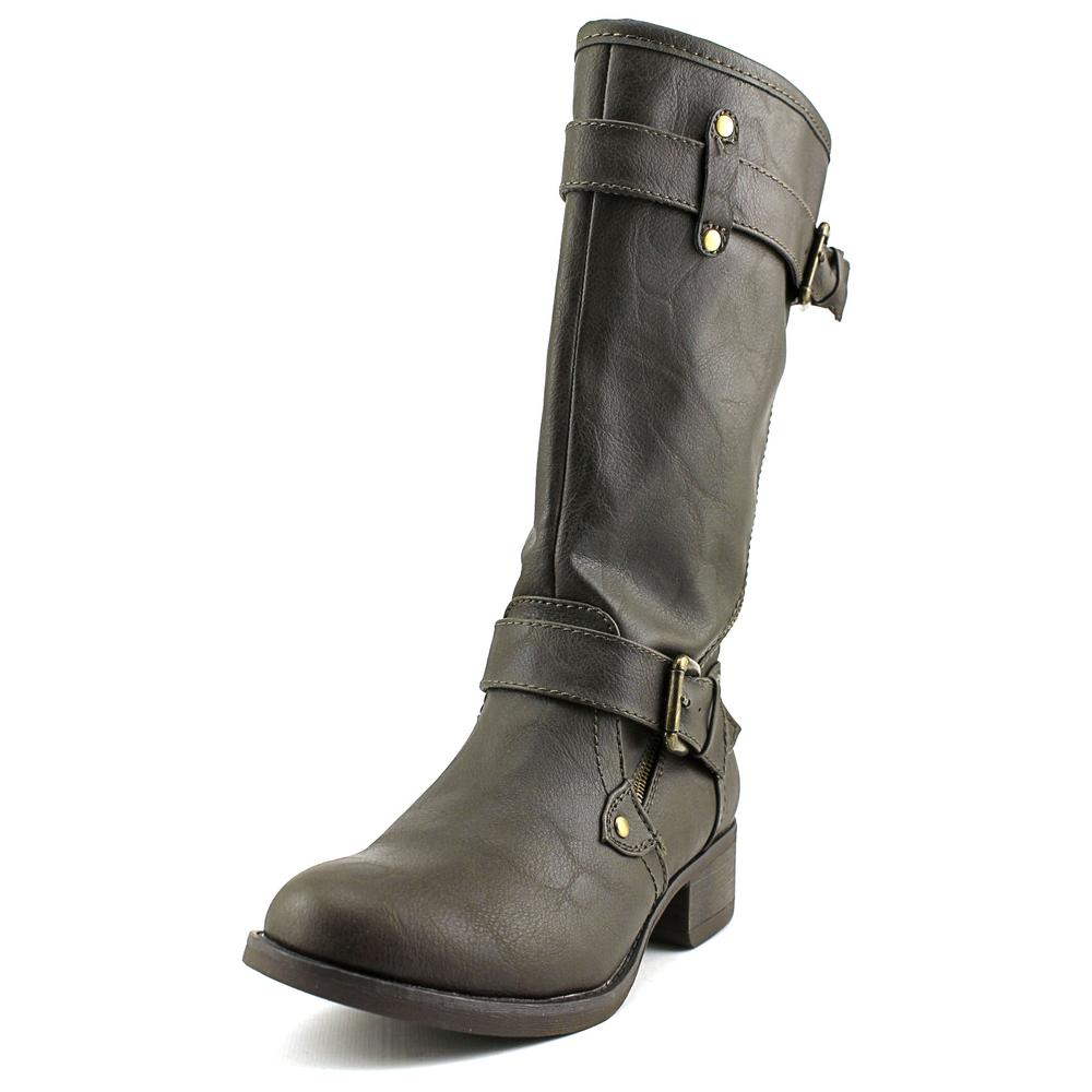 Wild Pair Poulsbo Women  Round Toe Synthetic Brown Boot
