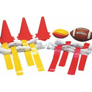 Flag Football Set, 24 Yellow and 24 Red flags, 12 cones and 2 footballs included