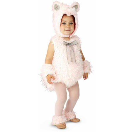 Pink Shaggy Kitty Girls' Toddler Halloween Costume