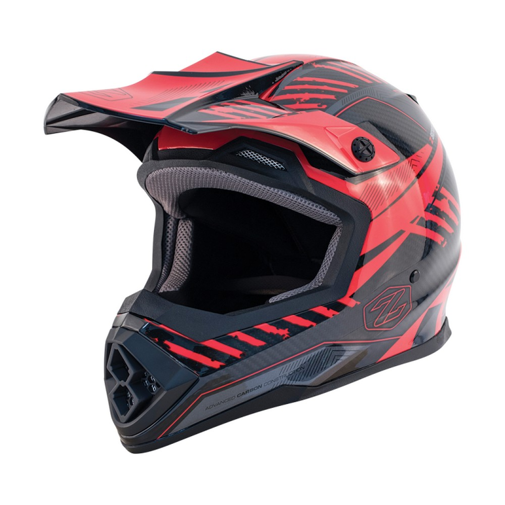 Zox Matrix Carbon Squadron MX Offroad Helmet Red