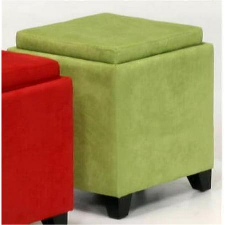 - Armen Art Lc530Otmfgr 530 Micro Fiber Storage Ottoman- Green