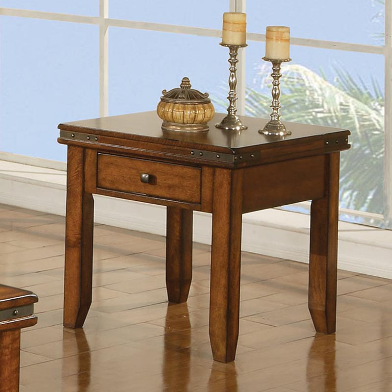 Mango 1 Drawer End Table - Mango