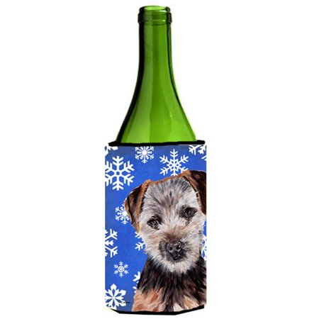 Norfolk Terrier Puppy Winter Snowflakes Wine bottle sleeve Hugger  24 Oz. - image 1 of 1
