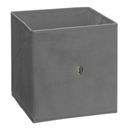 foldable storage cube basket bin grey fabric glance collapsible storage cubes. Black Bedroom Furniture Sets. Home Design Ideas