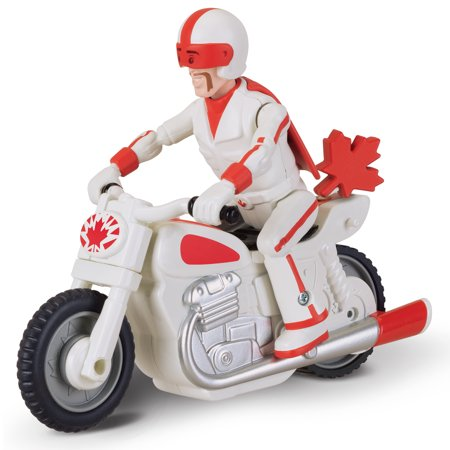 Toy Story 4 PULL 'N GO DUKE CABOOM with Motorcycle (Toys Story Ball)