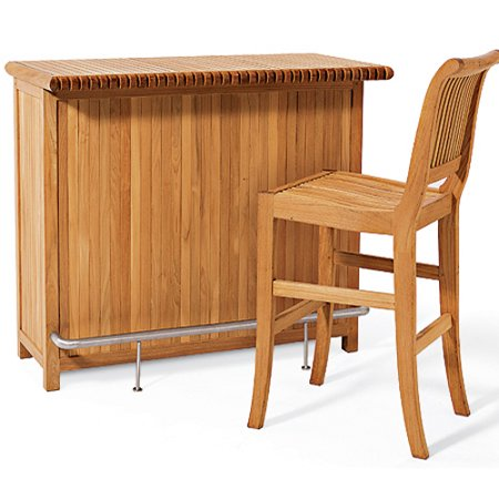 WholesaleTeak Outdoor Patio Grade A Teak Wood Giva Bar Cabinet (Chair shown in pictures not included) #WMBRC