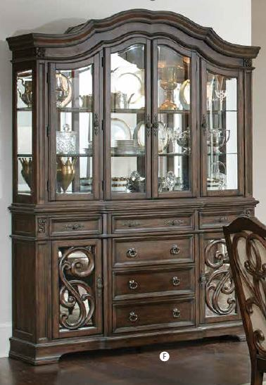 Coaster Ilana Traditional Antique Java China Cabinet With Glass Doors 122254 by Coaster