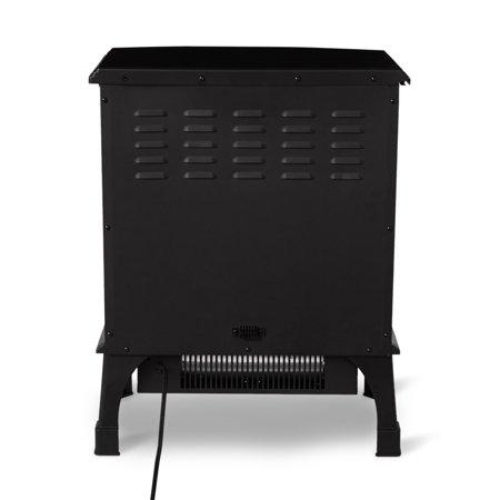 Limina Indoor Electric 1500W Stove Fireplace Infrared Quartz Space Heater, Black - image 2 de 6