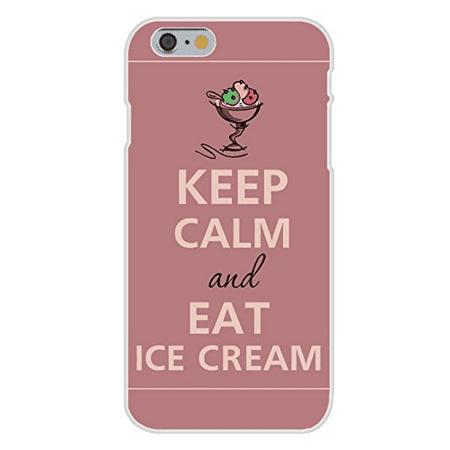 Apple iPhone 6+ (Plus) Custom Case White Plastic Snap On - Keep Calm and Eat Ice Cream - Halloween Ice Cream Sundae Bar