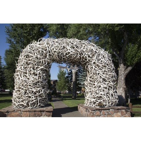 Elk Antler Arch, Town Square, Jackson Hole, Wyoming, United States of America, North America Print Wall Art By Richard -