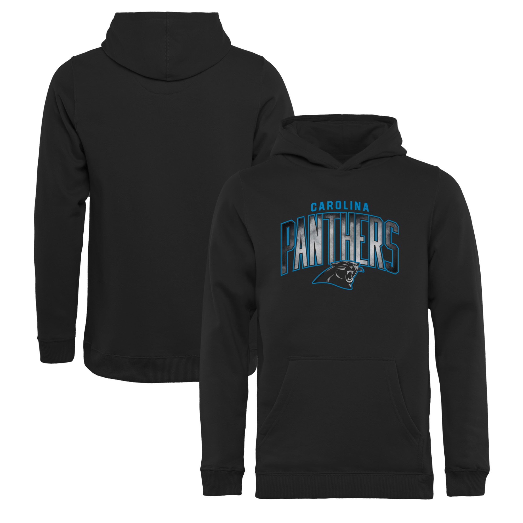 Carolina Panthers NFL Pro Line by Fanatics Branded Youth Arch Smoke Pullover Hoodie - Black