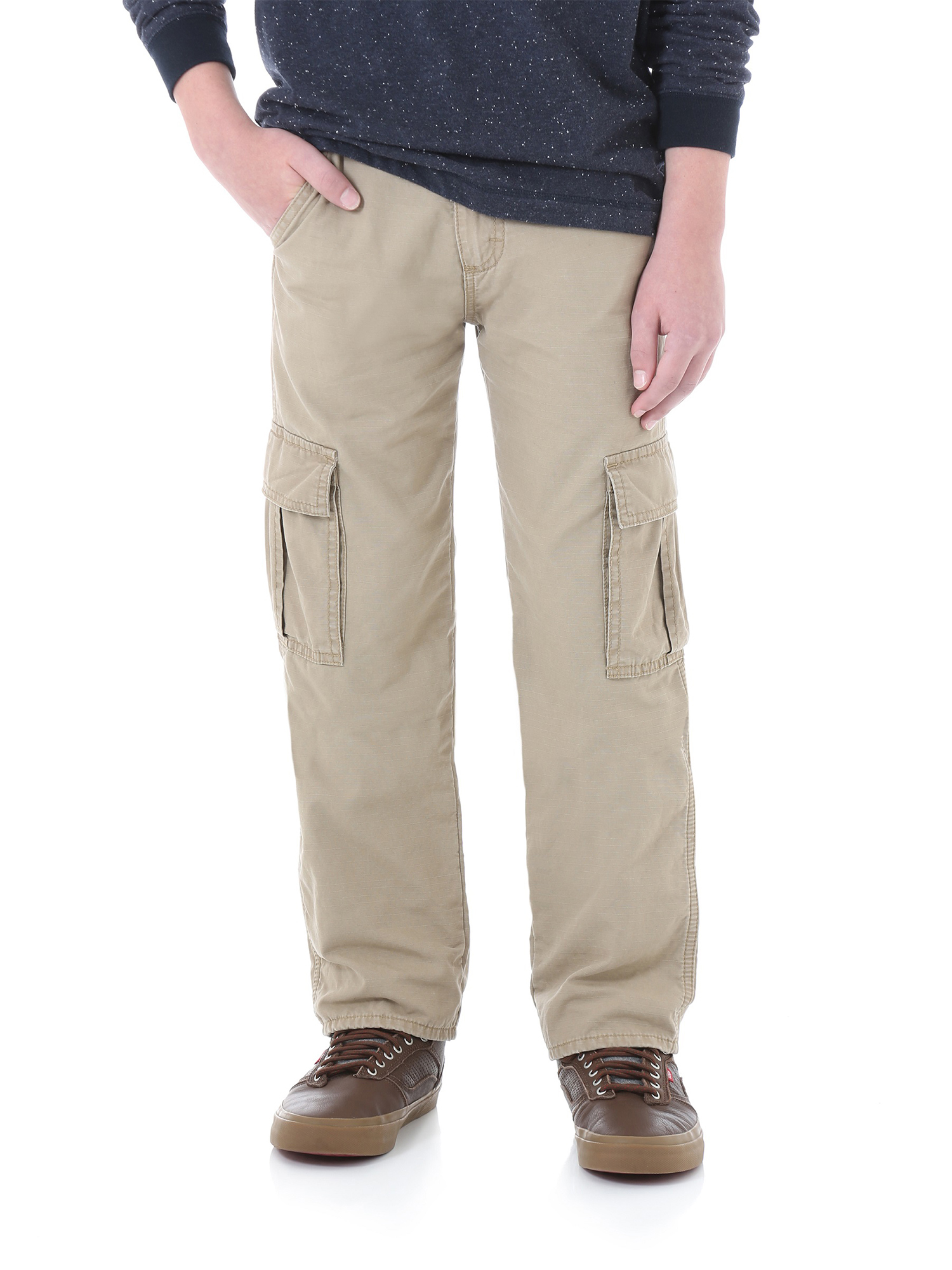 Smoke 8H Wrangler Husky Boys Authentics Slim Straight Twill Pant