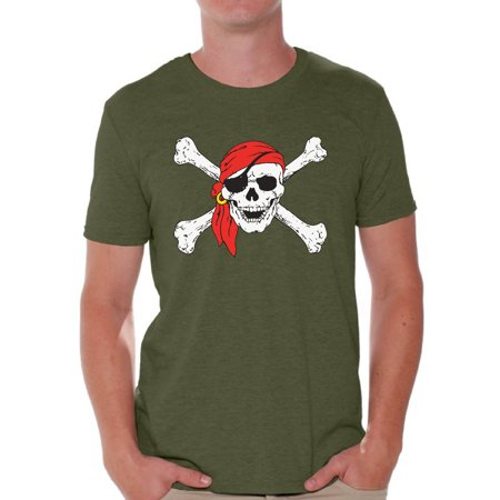 Awkward Styles Jolly Roger t-shirt top skull shirts mens skull shirts day of the dead t shirt costume dia de Los Muertos costume t shirt candy skull sugar skull costume t shirt skull for men Mexico