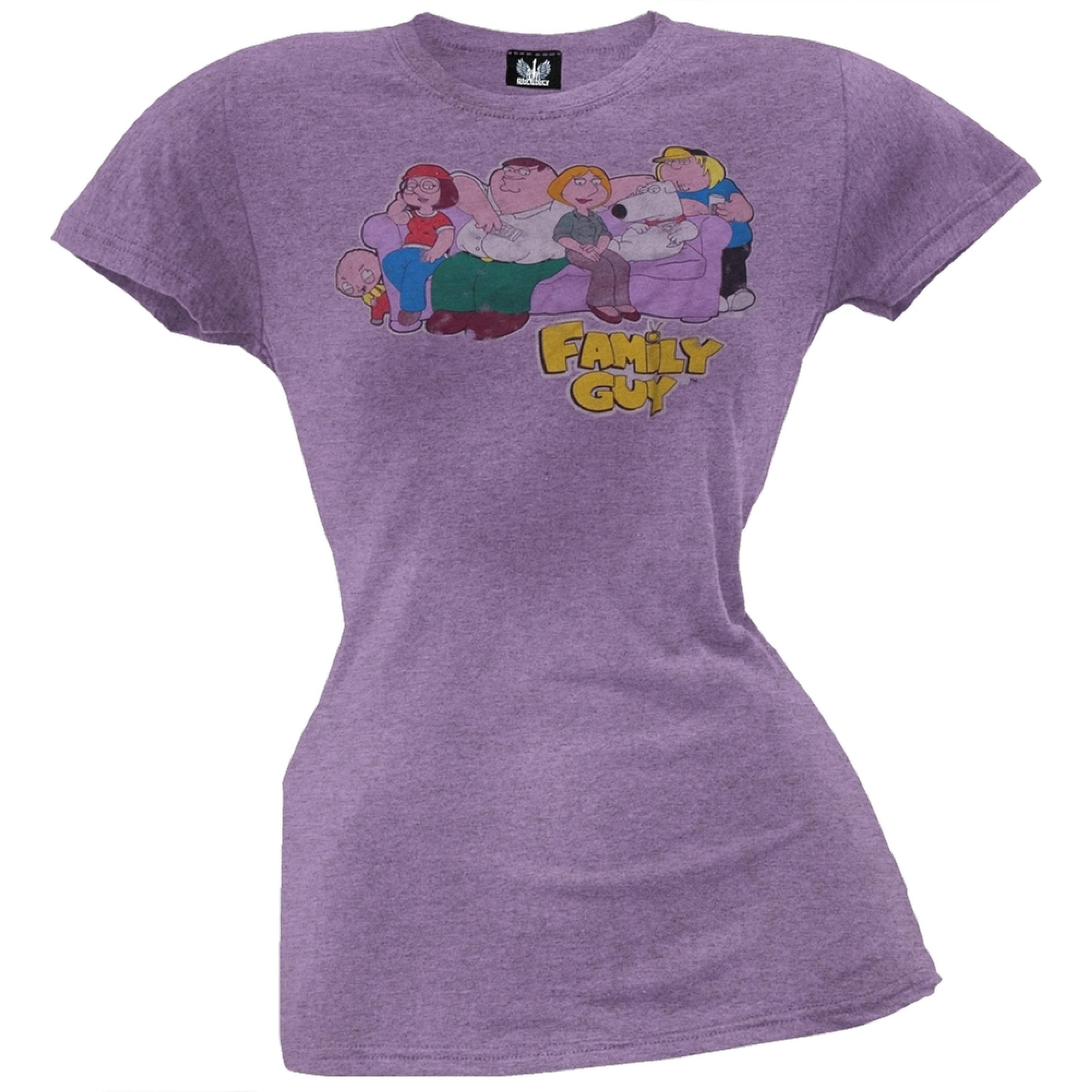 Family Guy - On Couch Juniors T-Shirt