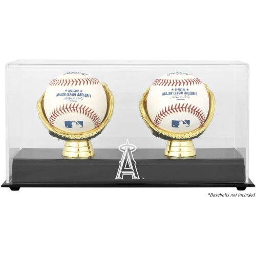 Los Angeles Angels Fanatics Authentic Gold Glove Double Baseball Logo Display Case - No Size