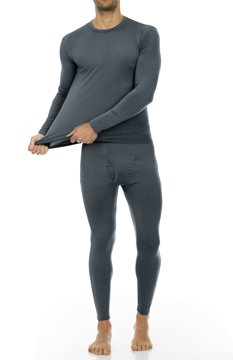05e14fa00e8 Thermajohn - Thermajohn Men s Ultra Soft Thermal Underwear Long Johns Sets  with Fleece Lined (Grey