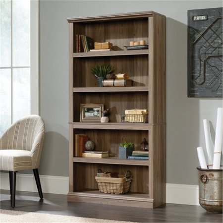 Bowery Hill 5 Shelf Bookcase In Salt Oak