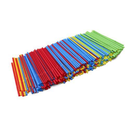 Kizmos Straws, Assorted colors, 250 Count for Milkshakes, Slurpees, soda Happy KIDS