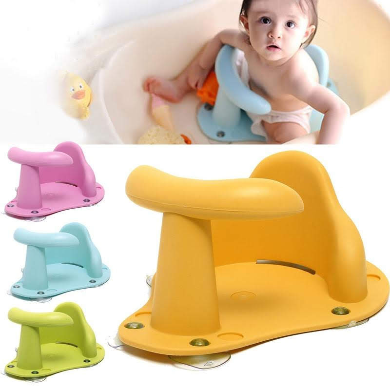 Baby Bath Seat  Baby Bath Tub Ring Seat Infant Child Toddler Kids Anti Slip Safety Chair