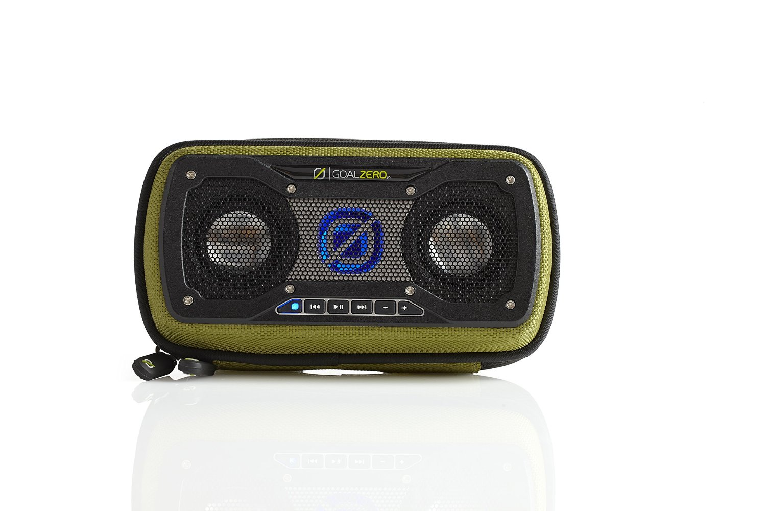 Click here to buy Goal Zero 94014 Rock Out 2 Green Solar Rechargeable Speaker by Goal Zero.