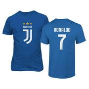 Soccer Shirt #7 Ronaldo CR7 Cristiano Juve Boys Girls Youth T-Shirt (Royal, Youth Small)