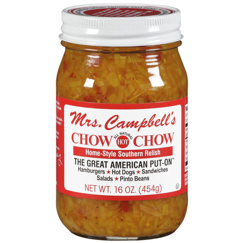 Mrs. Campbell's Chow Chow All Natural Hot Home-Style Southern Relish, 16 oz