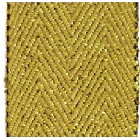 - Papillon Ribbon & Bow R096871-38-0690-GOLD 1.5 in. 10 Yards Herringbone Glitter Ribbon, Gold & Gold