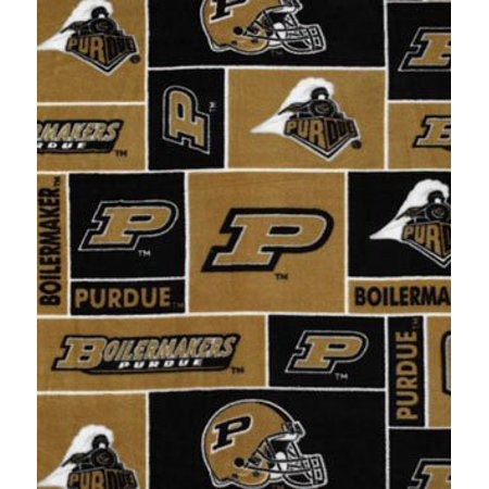 Purdue Boilermakers Allover NCAA Fleece Fabric - by the Yard By ...