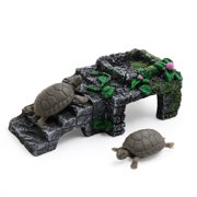 Ladder Design Landscape Resin Basking Ramp Turtle Climb Stone Habitat Ornament