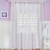 Elrene Home Fashions Flower Power Single Curtain Panel