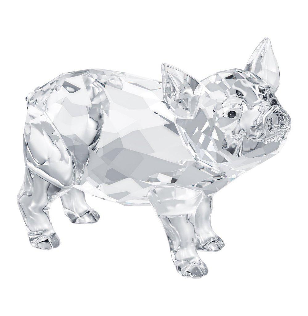 Swarovski Clear Crystal Animal Figurine Pig PIGLET #5004707
