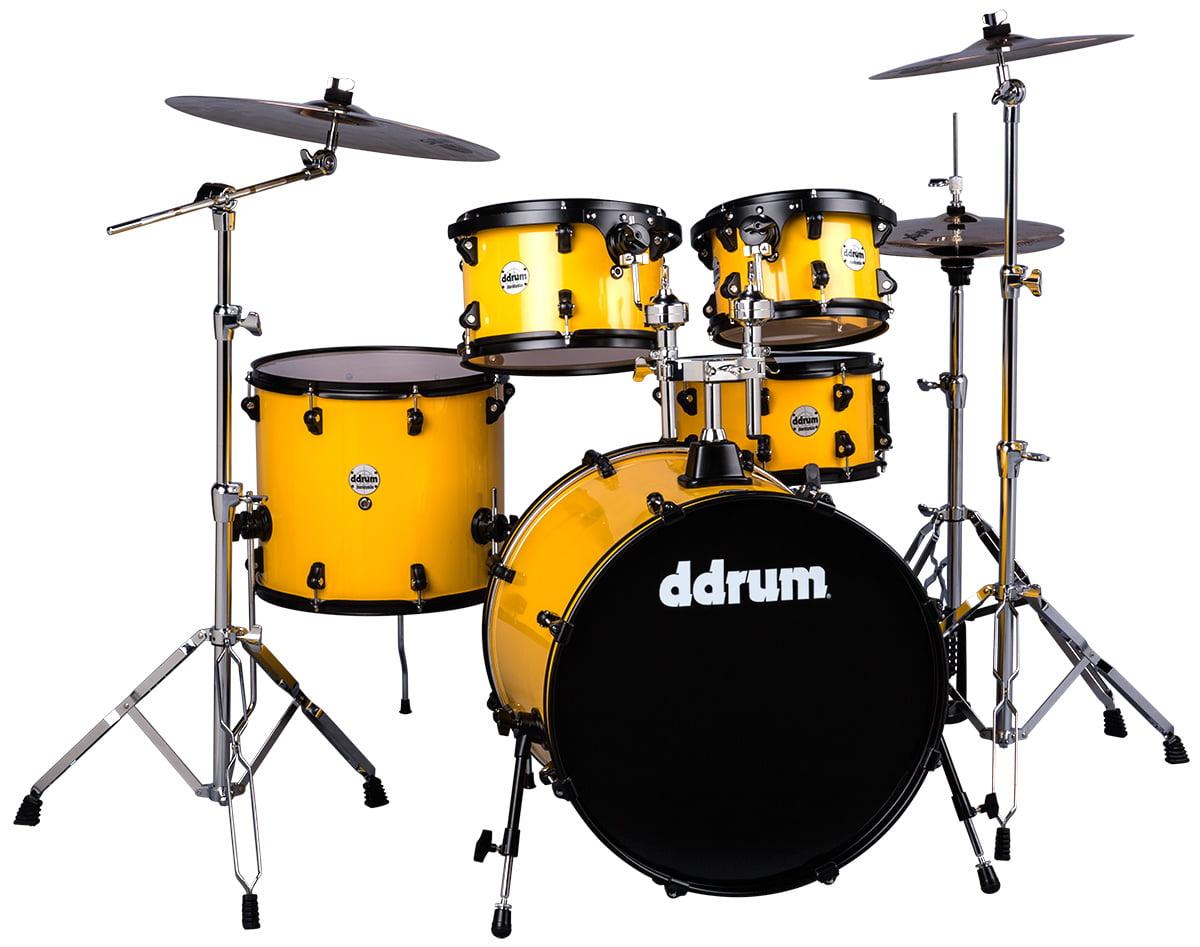 ddrum Journeyman Gen. 2 Player 5-Piece Drumset w  Hardware Flash Yellow by ddrum