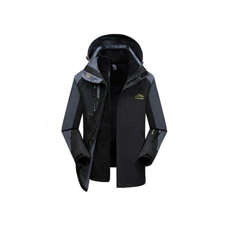 b03a800b3 OutdoorJacket - Men's 3 in 1 Mountain Waterproof Ski Jacket Windproof Rain  Jacket Plus Size - Walmart.com