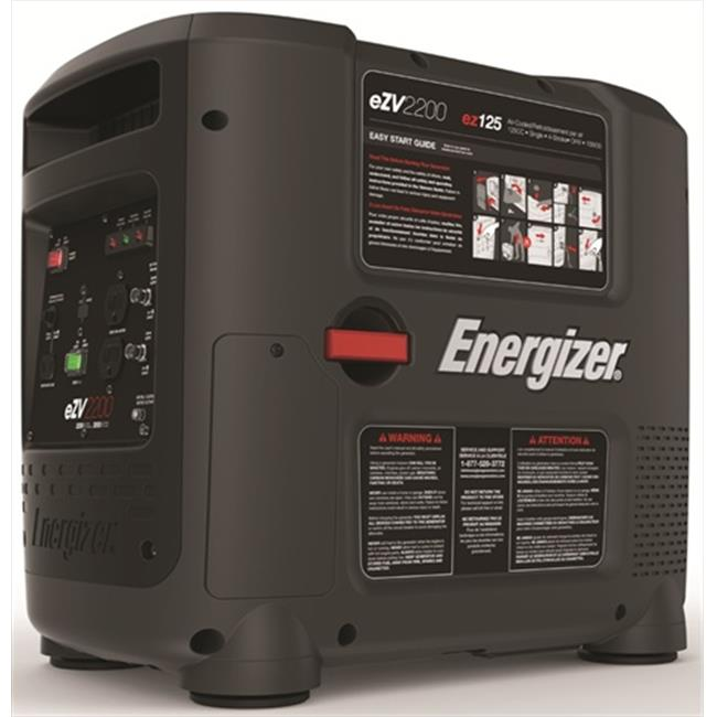 ENERGIZER Portable 2,200 Watt CARB Gasoline Inverter Generator with Manual Recoil Start