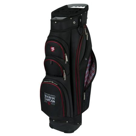 New Team Effort Golf Ohio State University Buckeye Tartan Cart Bag 14 Way Top